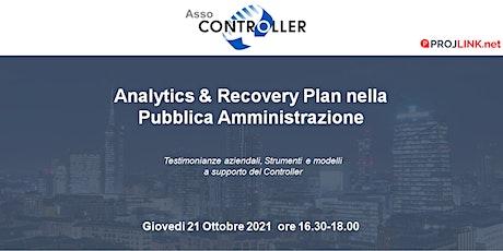 Analytics & Recovery Plan nella  Pubblica Amministrazione biglietti