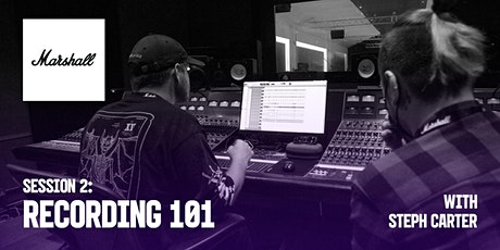 Marshall Industry Sessions - Recording 101 tickets