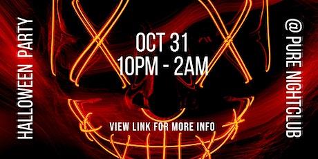 Halloween Party @ Pure Nightclub tickets