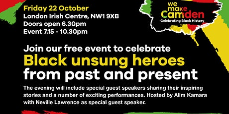 Camden Black Workers Group: Honouring our Nation of Black Unsung Heroes tickets