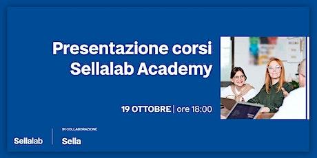 Presentazione corsi Sellalab Academy biglietti