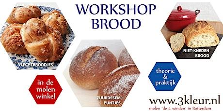 Workshop Brood ~ vlechtbroodjes, zuurdesem en niet-kneden-brood tickets