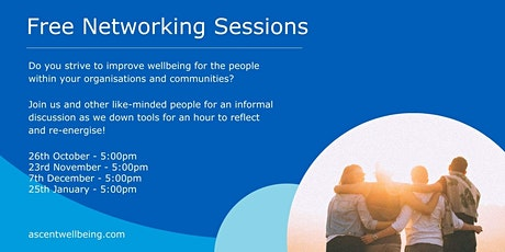 Free Monthly Networking Events - Workplace Wellbeing tickets