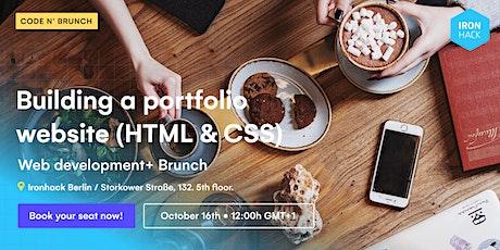 CodeNBrunch: Building a portofolio website (HTML & CSS) Tickets