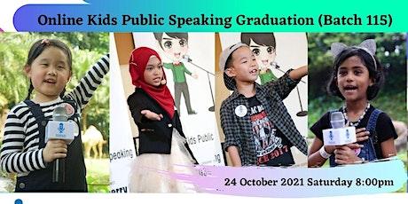 Online Kids Public Speaking Graduation - Johan Speaking Academy (Batch 115) tickets