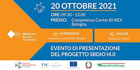 Presentazione progetto SBDIO I4.0 biglietti