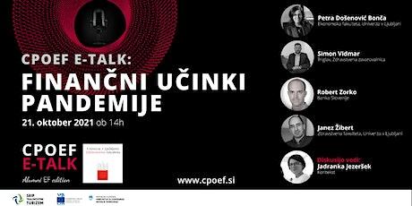 CPOEF E-talk: Finančni učinki pandemije tickets