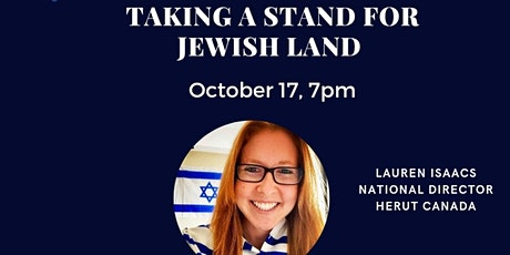 UGM presents: Taking A Stand For Jewish Land with Lauren Isaacs tickets