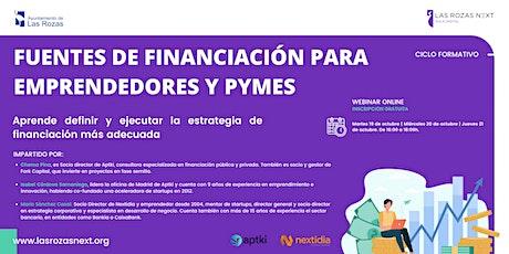 Webinar Emprende: Fuentes de financiación para emprendedores y pymes III entradas
