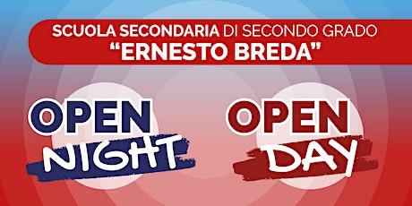 """Open Night/Day 2021/22: Istituto Tecnico Tecnologico """"Breda"""" biglietti"""