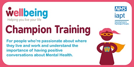 Wellbeing Champion Training (Online) November tickets