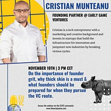 EUVC Founder Community Talk with Christian Munteanu, Early Game Ventures tickets