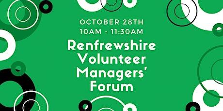 Renfrewshire's Volunteer Managers' Forum - October 2021 tickets
