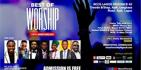 Best of Worship 10 tickets