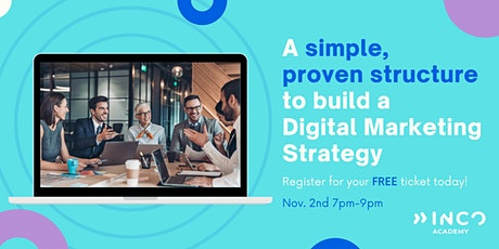 A simple, proven structure to build a Digital Marketing Strategy tickets