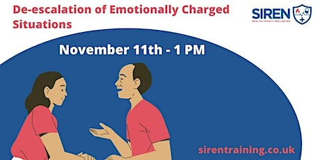 De-Escalation of Emotionally Charged Situations tickets