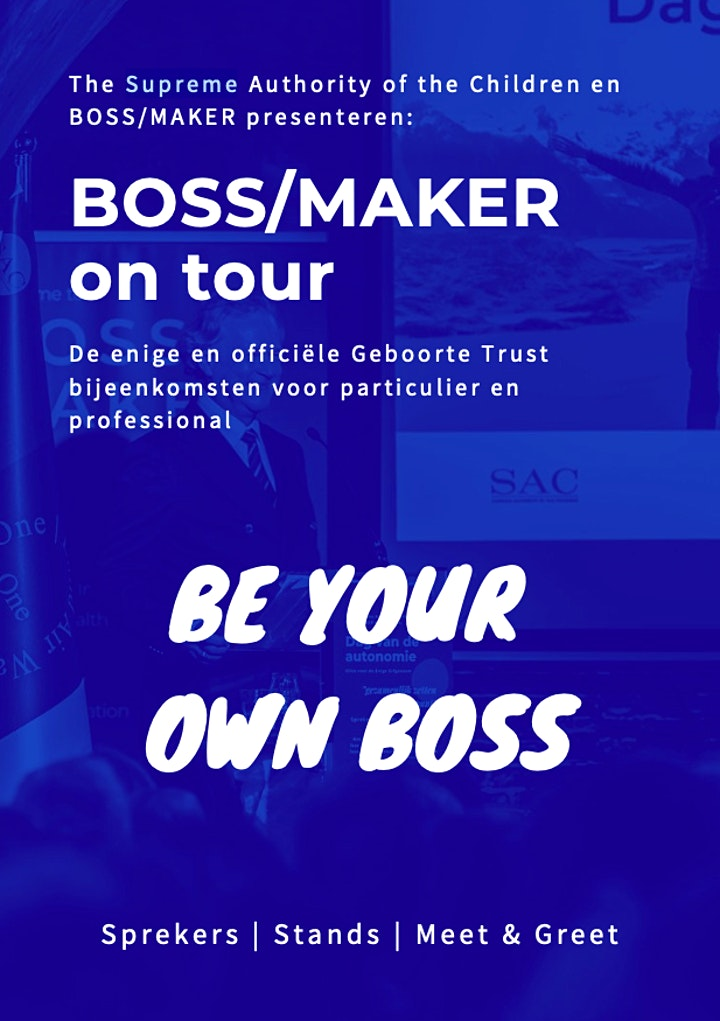 Afbeelding van BOSS/MAKER on TOUR: WESTERLEE (Groningen)