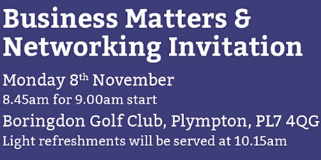 Business Matters & Networking tickets