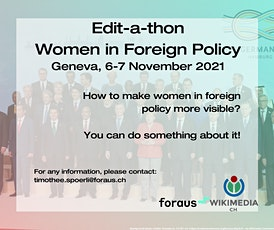 Edit-a-thon - Women in Foreign Policy tickets
