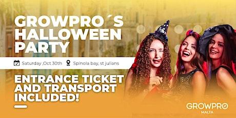 Growpro Halloween party tickets