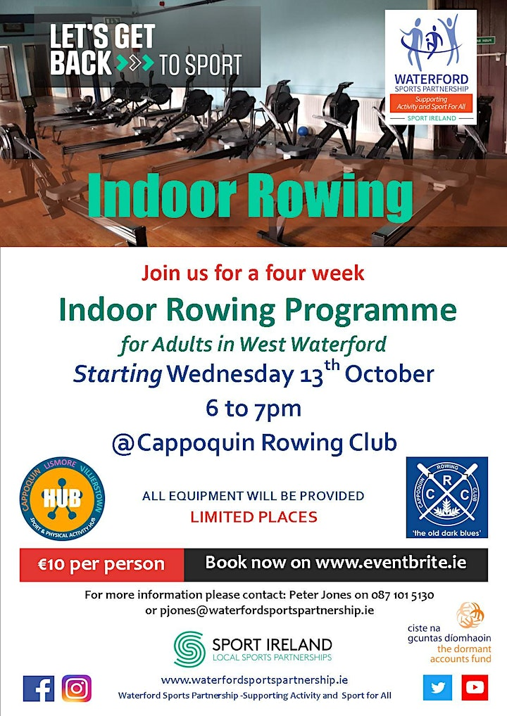 Lets Get Back - Indoor Rowing for Adults in West Waterford image