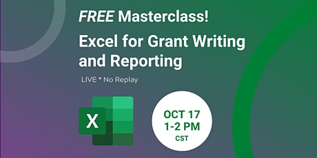Excel for Grant Writing and Reporting Masterclass tickets