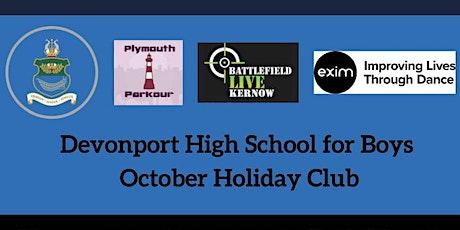 Devonport High School for Boys  - October 2021 Half Term Holiday Club tickets