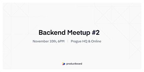 Backend Meetup PRG #2 tickets