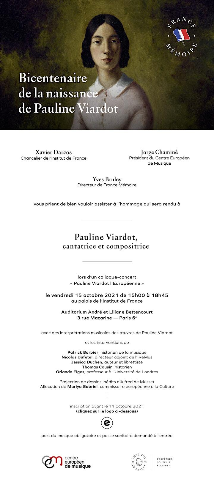Bicentenaire de la naissance de Pauline Viardot image