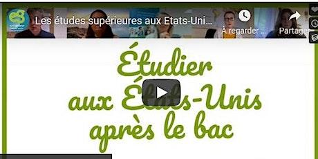 """Visioconférence """"Les études aux Etats-Unis"""" tickets"""