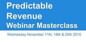 Predictable Revenue Webinar MasterClass Series