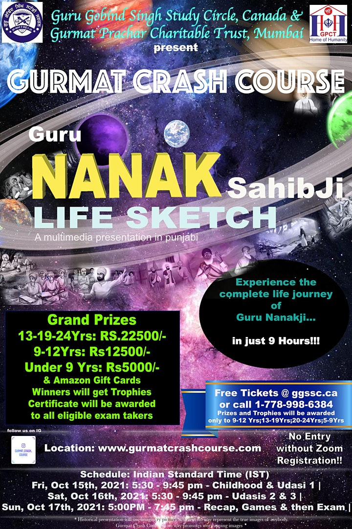 INDIA: Gurmat Crash Course >Guru Nanak Saahibji -Life Sketch image