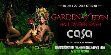 Garden of Eden Halloween Bash in Midtown Manhattan, the Heart of N.Y.C. tickets