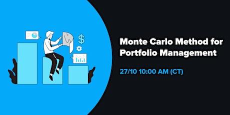 Monte Carlo method for Portfolio Management tickets