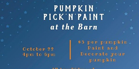 Pumpkin Pick n' Paint tickets