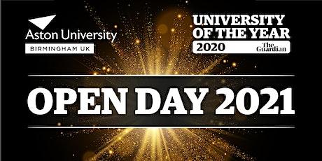 Aston University Open Day Saturday 20th November 2021 tickets