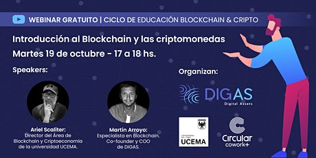 Introducción al Blockchain y las criptomonedas tickets