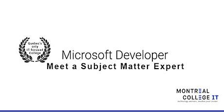 Meet a Subject Matter Expert - Microsoft Full Stack Developer tickets