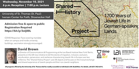 1700 years of Jewish Life in German-speaking lands -UST Lecture & Reception tickets