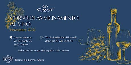 Corso di avvicinamento al vino riservato ai partner Aquila Basket biglietti