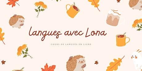 Cours de français en ligne billets