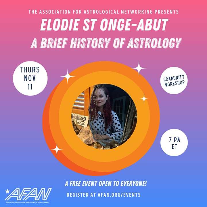 AFAN Presents Elodie St Onge-Aubut: A Brief History of Astrology image