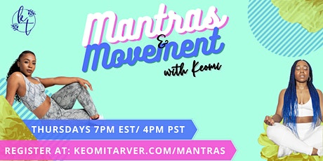Mantras and Movement - Dance and Mindfulness Class tickets