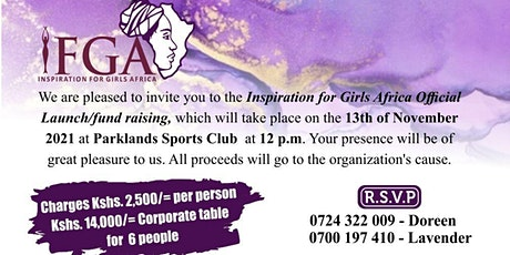 Inspiration For Girls Africa  (IFGA) - Official Launch/ Fundraiser tickets