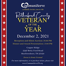 Rutherford County Veteran of the Year tickets