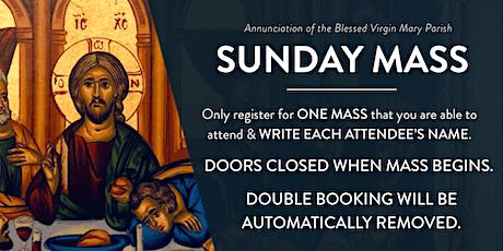 Sunday Mass at Annunciation Parish tickets