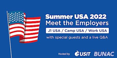 Meet the Employers - Summer USA 2022 Edition tickets