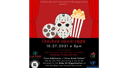 HALLOWEEN MOVIE NIGHT  FOR CHARITY - FRIDAY THE 13TH - A LA CARTE tickets