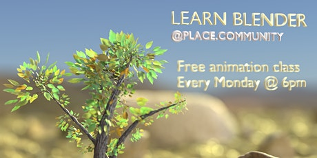 Free Animation and Design Classes with Blender - Every Monday (FREE) tickets
