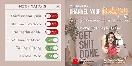 Masterclass - Channel your Productivity tickets